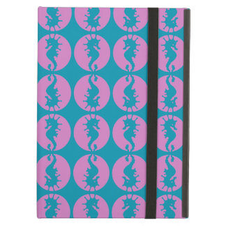 Cute Seahorses in Pink and Teal iPad Air Covers
