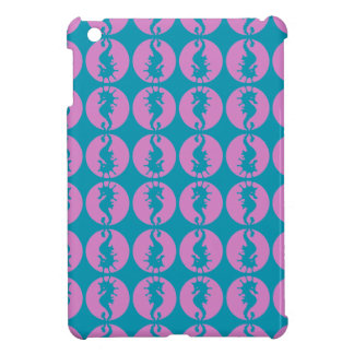 Cute Seahorses in Pink and Teal iPad Mini Cases