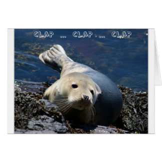 Cute Seal Thank You Buyers From Agent Greeting Card