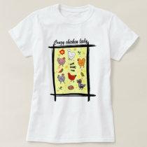 Cute seamless chickens pattern cartoon T-Shirt