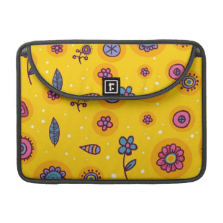 cute-seamless-pattern colourful cartoon flowers sleeve for MacBooks