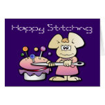 Cute Seamstress Mouse Birthday Cards