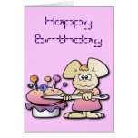 Cute Seamstress Mouse Birthday Greeting Card