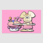 Cute Seamstress Mouse Rectangular Sticker