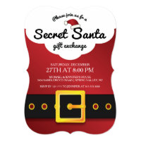 CUTE Secret Santa Gift Exchange Party Invitation