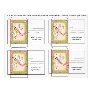 Cute Seed Packet Gift or Favor Custom Flyer