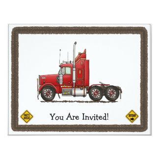 Cute Semi-Cab 4.25x5.5 Paper Invitation Card