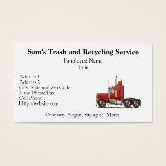 Cute Semi-Cab Business Card