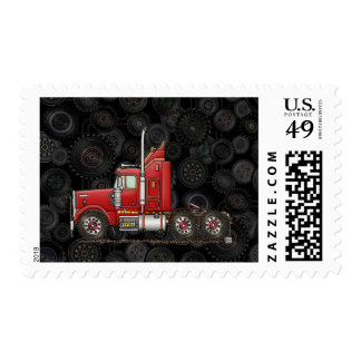 Cute Semi-Cab Postage