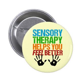 Cute Sensory Therapy OT Handprints Pinback Button