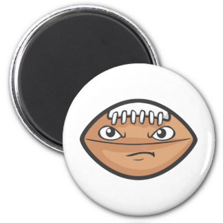 Cute Serious Foot Ball Cartoon Magnet