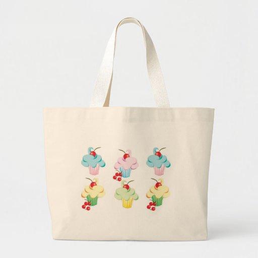 Cute set of cupcakes canvas bag