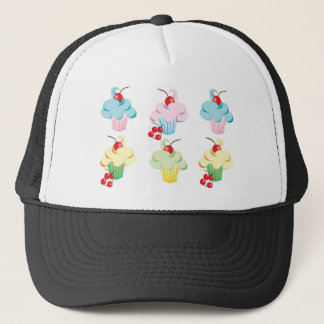 Cute set of cupcakes trucker hat