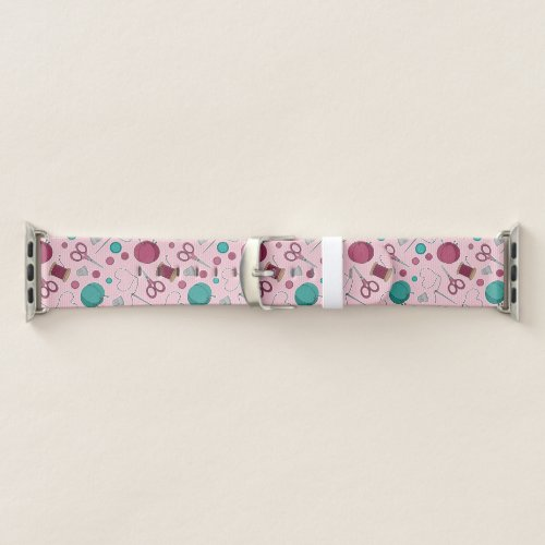 Cute Sewing Themed Pattern Apple Watch Band