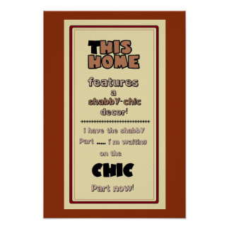 Cute Shabby Chic Home Poster