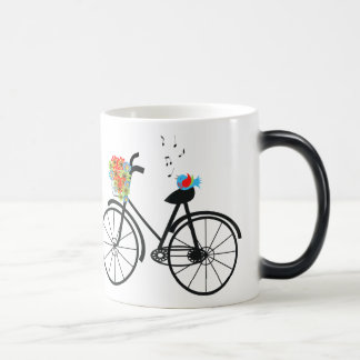 Cute Shabby Chic Vintage Bike 11 Oz Magic Heat Color-Changing Coffee Mug
