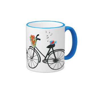 Cute Shabby Chic Vintage Bike Ringer Coffee Mug