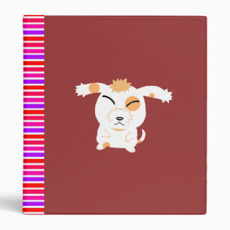 Cute shaggy dog 3 ring binder