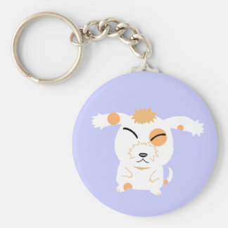 Cute shaggy dog keychain