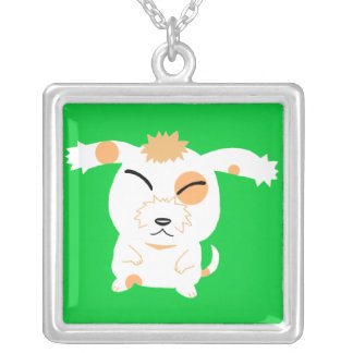 Cute shaggy dog personalized necklace