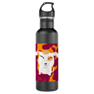 Cute shaggy dog stainless steel water bottle