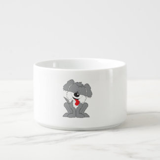 Cute Shaggy Puppy Cartoon Bowl