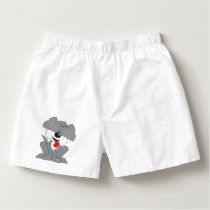 Cute Shaggy Puppy Cartoon Boxers