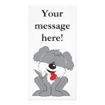 Cute Shaggy Puppy Cartoon Card