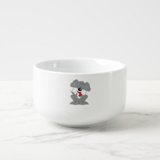 Cute Shaggy Puppy Cartoon Soup Mug