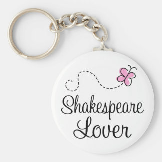 Cute Shakespeare Lover Basic Round Button Keychain