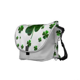Cute Shamrocks Design Messenger Bag