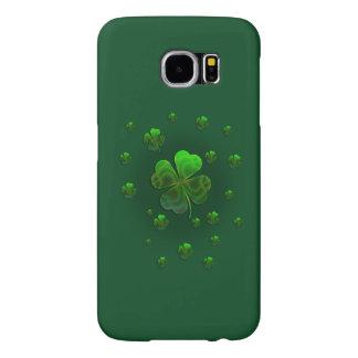 Cute Shamrocks Green Design Samsung Galaxy S6 Cases