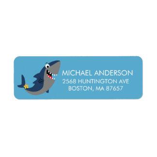 Cute Shark Attack Address Label