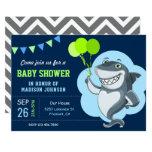 Cute Shark Baby Shower Invitation