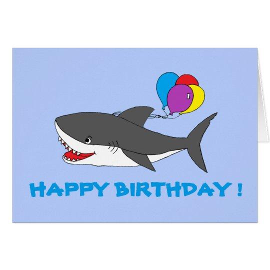 Cute shark birthday card zazzle cute shark birthday card bookmarktalkfo Gallery