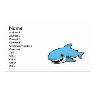 Cute shark business cards