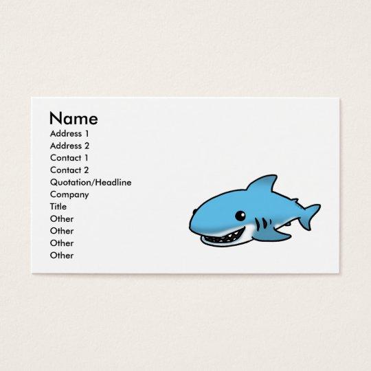 Cute shark business card