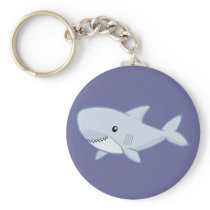 Cute Shark Keychain