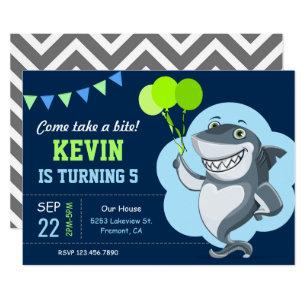 Shark Party Invitations Announcements Zazzle