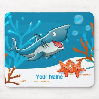 Cute Shark Ocean Aquatic Mousepad