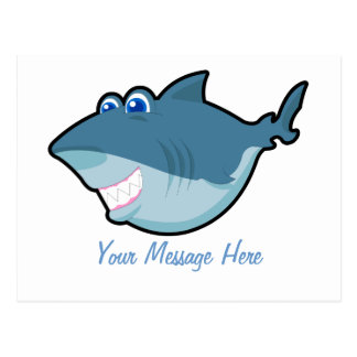 Cute Shark Postage & Greeting Card Postcards