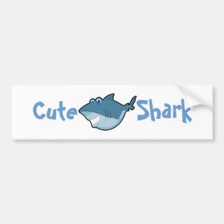 Cute Shark Stickers Bumper Sticker