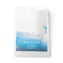Cute Sharks and Ocean | Baby Shower Favor Bag