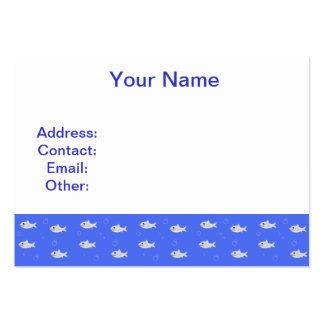 Cute Sharks Large Business Cards (Pack Of 100)