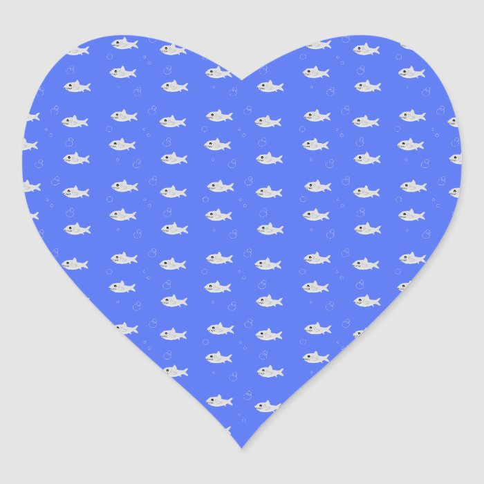 Cute Sharks Heart Sticker