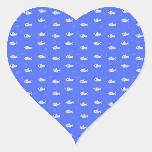 Cute Sharks Heart Stickers