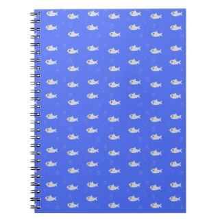Cute Sharks Spiral Note Book