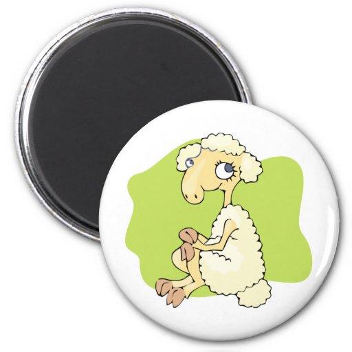 Cute Sheep 2 Inch Round Magnet