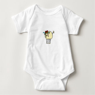 Cute sheep baby bodysuit