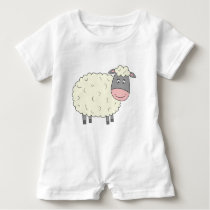 Cute Sheep Baby Romper